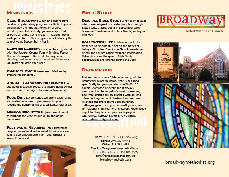 Design Project | Church Brochure (1/2)