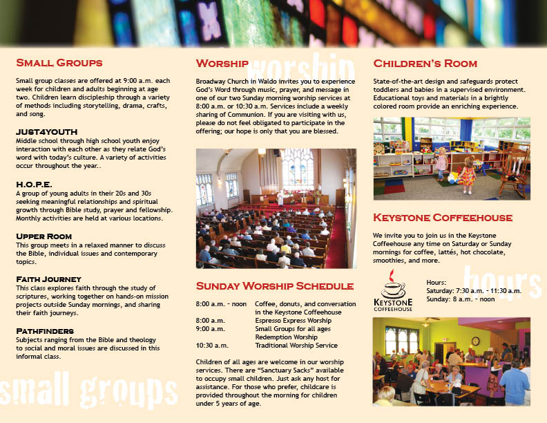 church brochure design - design project church brochure photographic rhodes