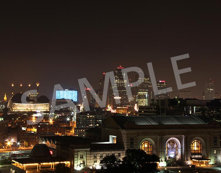 Downtown Kansas City at night