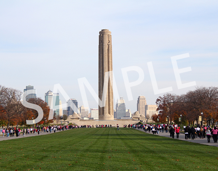 Liberty Memorial during Making Strides Against Breast Cancer
