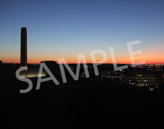 Liberty Memorial at dusk