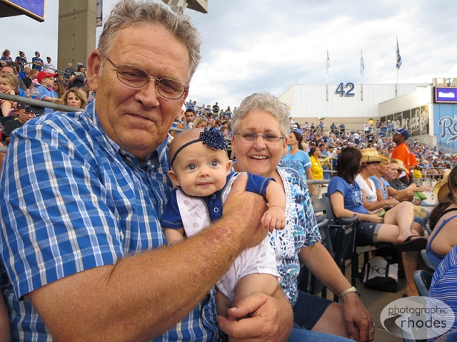 Baby K with Grandpa and Grandma Rhodes