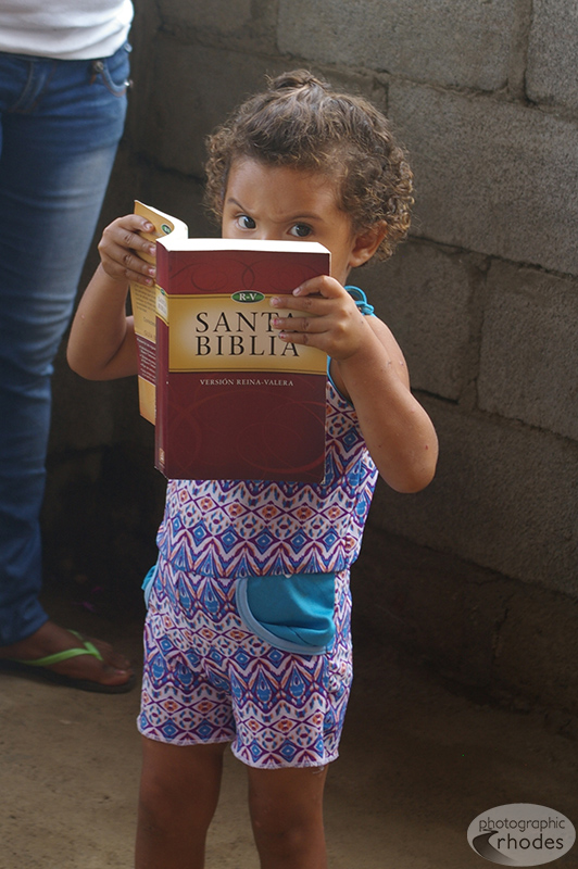 Even the toddlers enjoyed the Bibles