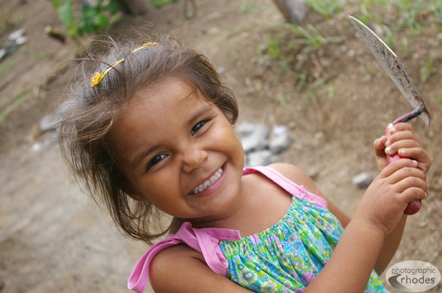 One of the sweetest little girls - Angie - loved posing for me